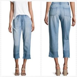 JOIE Soft Chambray Light Blue Cropped Denim Jeans